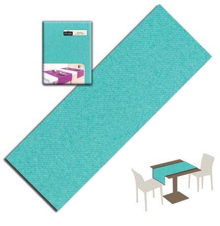 Tovaglietta Runner You & Me 120x48 Airlaid Packservice Plus Unicolor Acqua 200 Pezzi