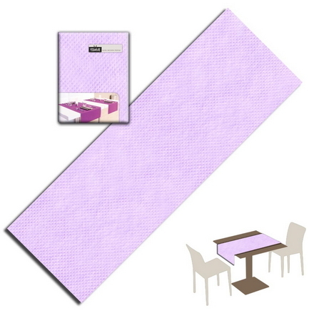 Tovaglietta Runner You & Me 120x48 Airlaid Packservice Plus Unicolor Lilla 200 Pezzi