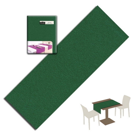 Tovaglietta Runner You & Me 120x48 Airlaid Packservice Plus Unicolor Verde 200 Pezzi