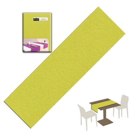 Tovaglietta Runner You & Me 120x48 Airlaid Packservice Plus Unicolor Olio 200 Pezzi