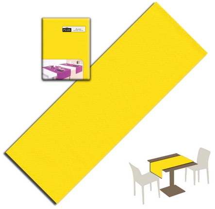 Tovaglietta Runner You & Me 120x48 Airlaid Packservice Plus Unicolor Giallo 200 Pezzi