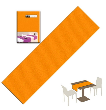 Tovaglietta Runner You & Me 120x48 Airlaid Packservice Plus Unicolor Arancio 200 Pezzi