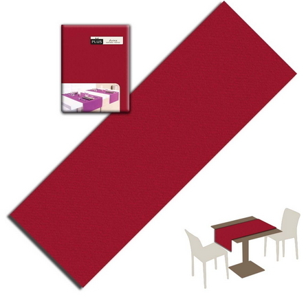Tovaglietta Runner You & Me 120x48 Airlaid Packservice Plus Unicolor Bordeaux 200 Pezzi