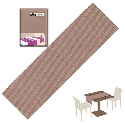 Tovaglietta Runner You & Me 120x48 Airlaid Packservice Plus Unicolor Cappuccino 200 Pezzi