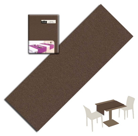 Tovaglietta Runner You & Me 120x48 Airlaid Packservice Plus Unicolor Cacao 150 Pezzi