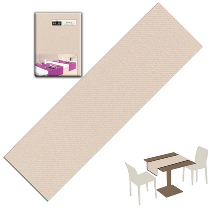 Tovaglietta Runner You & Me 120x48 Airlaid Packservice Plus Unicolor Sabbia 200 Pezzi