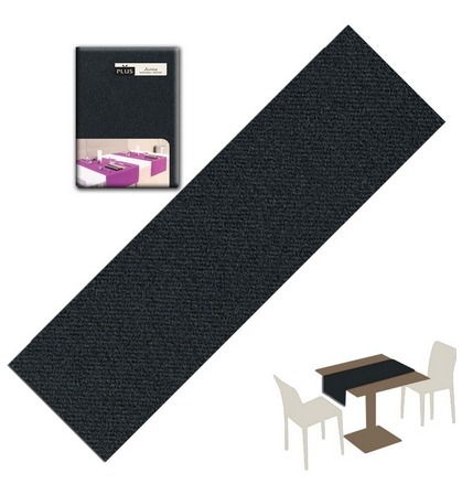 Tovaglietta Runner You & Me 120x48 Airlaid Packservice Plus Unicolor Nero 200 Pezzi