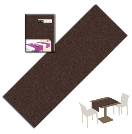 Tovaglietta Runner You & Me 120x48 Airlaid Packservice Plus Twist Cacao 200 Pezzi