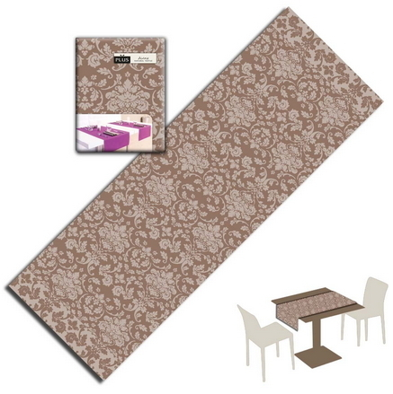 Tovaglietta Runner You & Me 120x48 Airlaid Packservice Plus Victoria Cappuccino 200 Pezzi