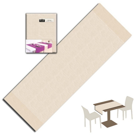 Tovaglietta Runner You & Me 120x48 Airlaid Packservice Plus Lino Avorio 200 Pezzi