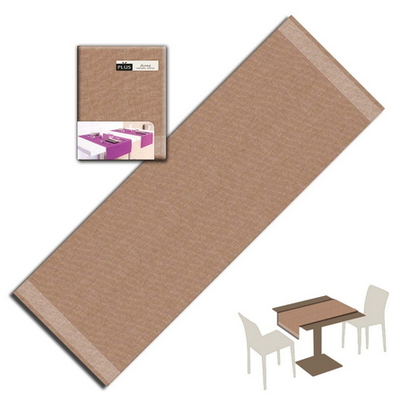 Tovaglietta Runner You & Me 120x48 Airlaid Packservice Plus Iuta Cappuccino 200 Pezzi