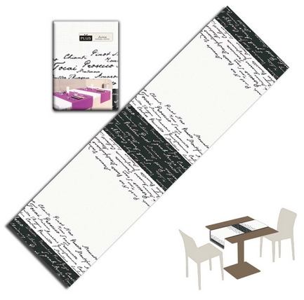 Tovaglietta Runner You & Me 120x48 Airlaid Packservice Plus Wine Nero 200 Pezzi
