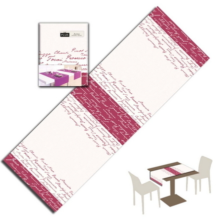 Tovaglietta Runner You & Me 120x48 Airlaid Packservice Plus Wine Bordeaux 200 Pezzi
