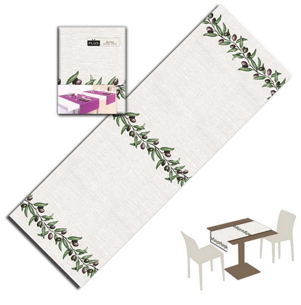 Tovaglietta Runner You & Me 120x48 Airlaid Packservice Plus Olivia 200 Pezzi