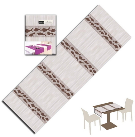 Tovaglietta Runner You & Me 120x48 Airlaid Packservice Plus Marea Cacao 200 Pezzi