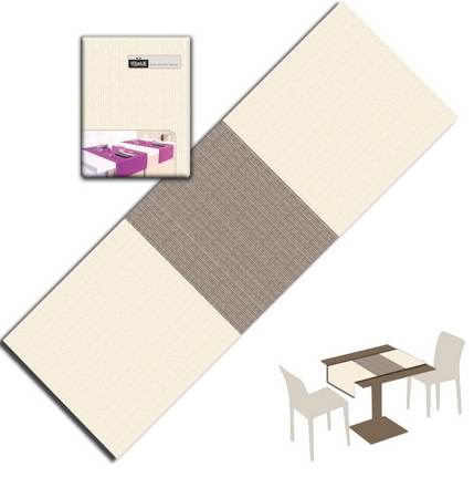 Tovaglietta Runner You & Me 120x48 Spunlace Packservice Maison Cacao 160 Pezzi
