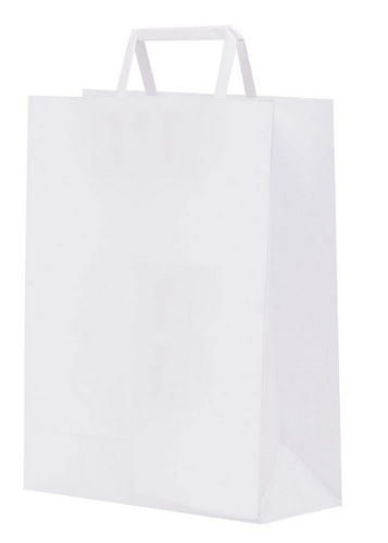 Buste Shoppers in Carta Packservice Colore Bianco 200 Pezzi